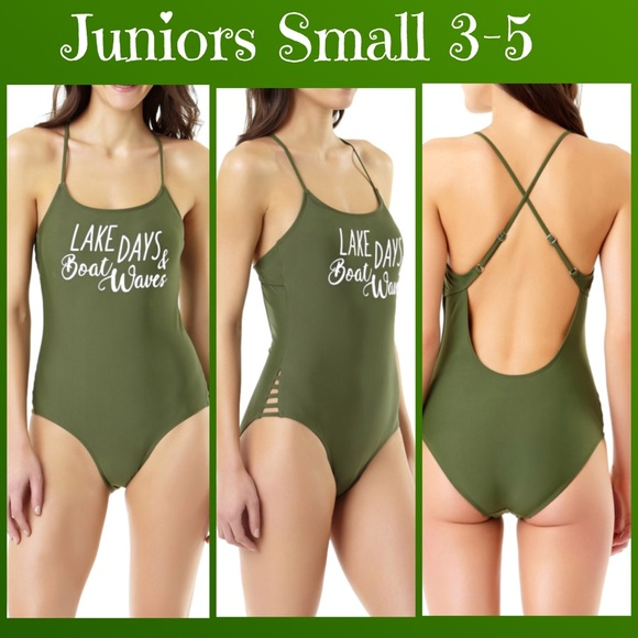 f727ee301ba28 Juniors Lake Days   Boat Waves One Piece Swimsuit